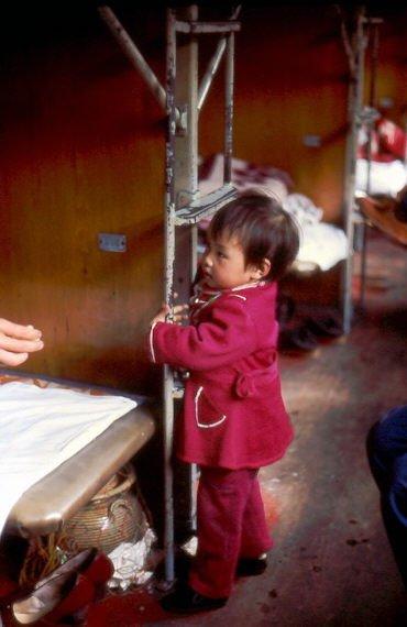 China mit Kind im Hardsleeper