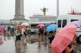 Peking im Regen