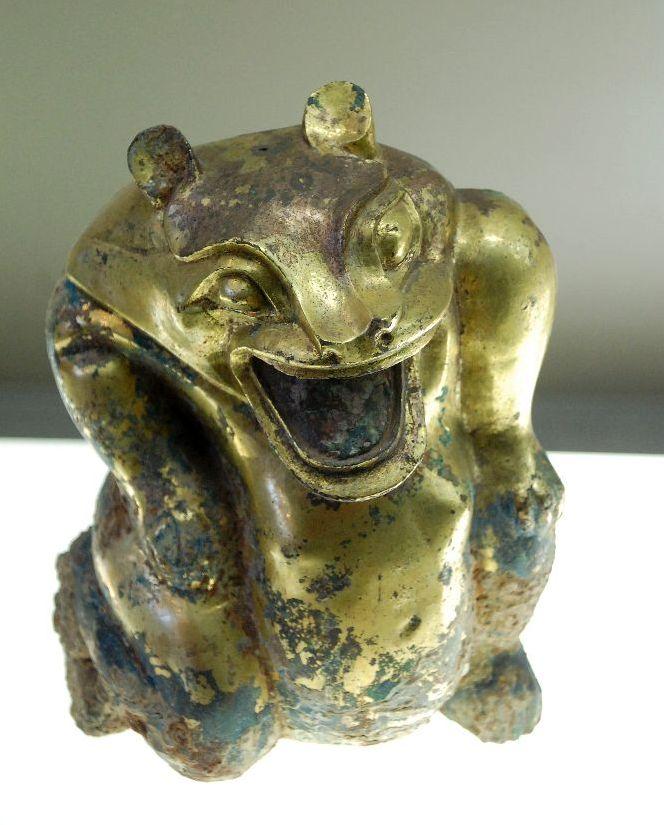 ein Bär aus der Han-Dynastie (206 v. Chr. - 220 n. Chr.) Bronze