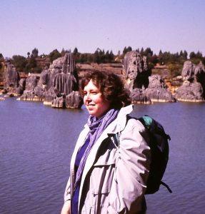 Alleine m it dem Rucksack 1987 in China