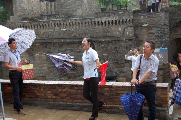 Reisseleiterin bei Gruppenreise