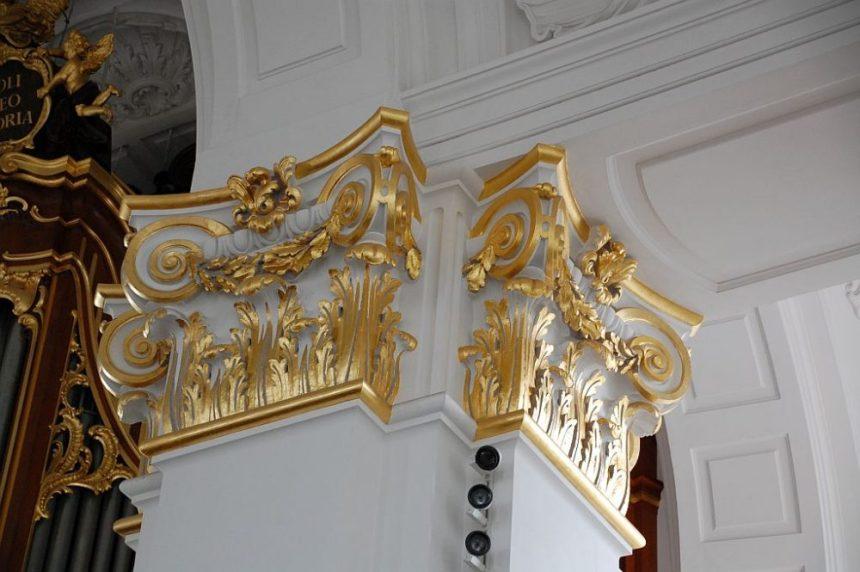 Michel - Goldene Säulen-Kapitelle