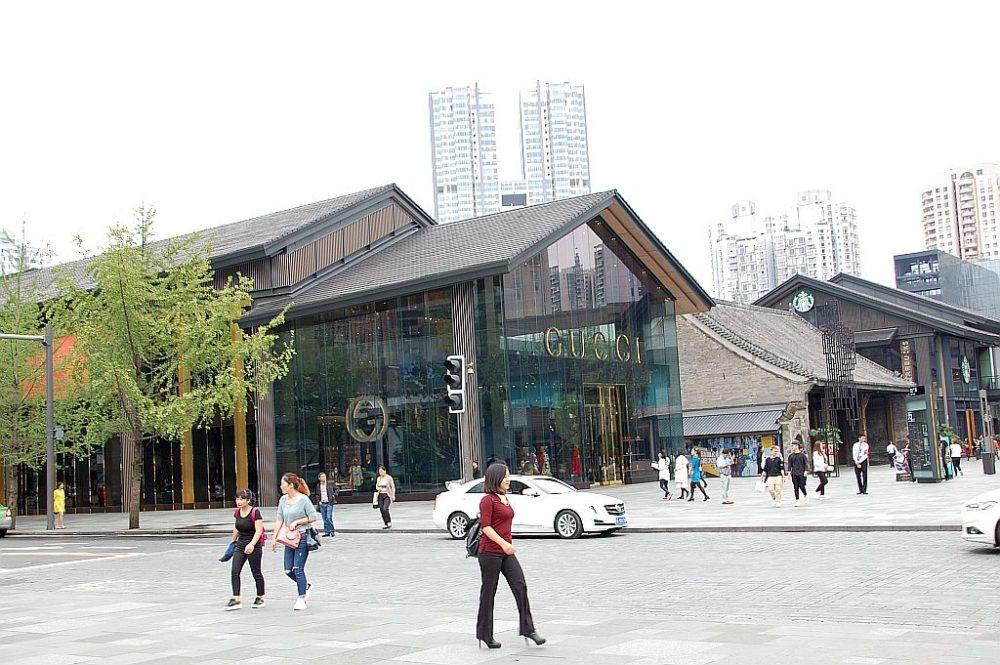 Cartier in Chengdu, Shoppingzentrum im alten Stil.
