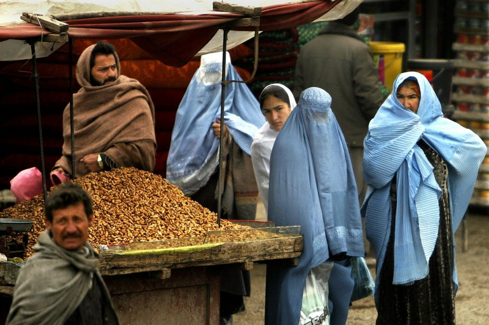 Frauen mit Burka in Afghanistan