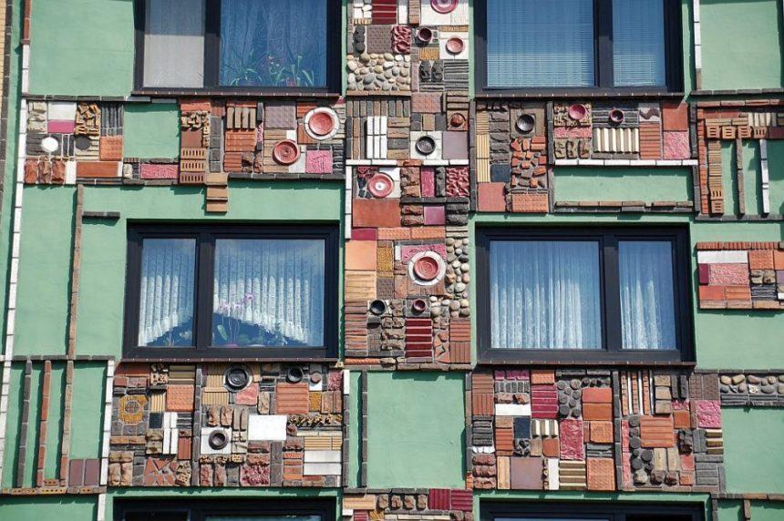 Billstedt Fassade mit Kunst