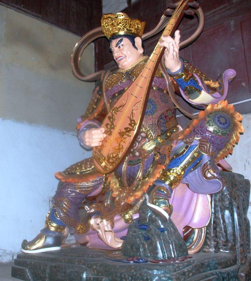 Himmelskönig mit Pipa