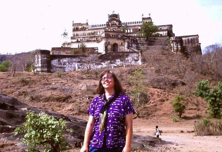 Als Frau alleine durch Indien - 1992 am Rajgarh-Palast