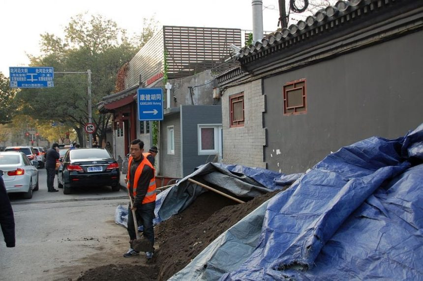 Bauarbeiten in den Hutongs