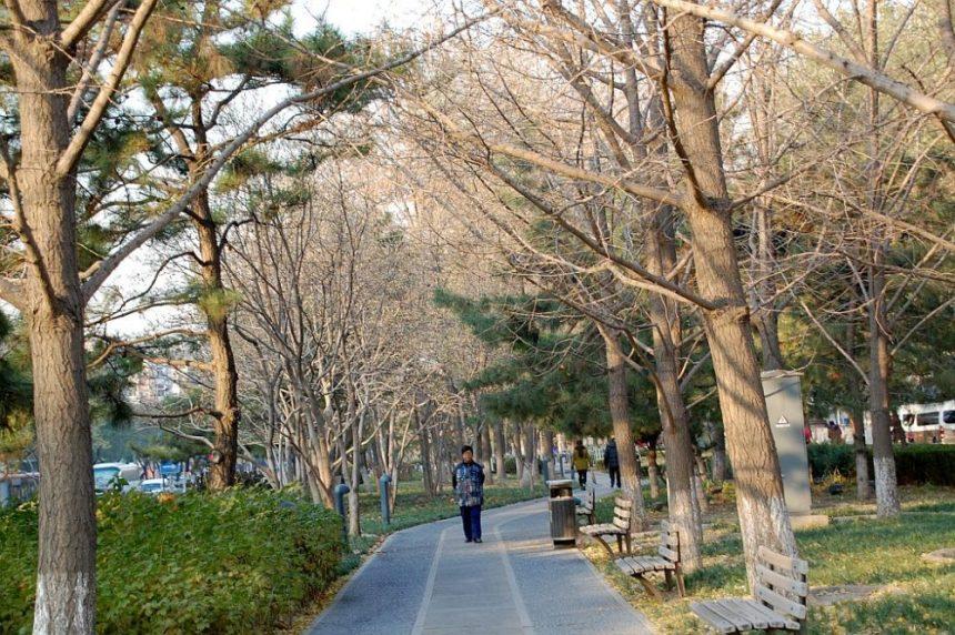 Kleiner Park in den Hutongs