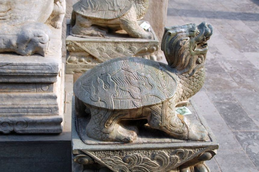 Lama-Tempel Yonghegong Schildkröte aus Stein