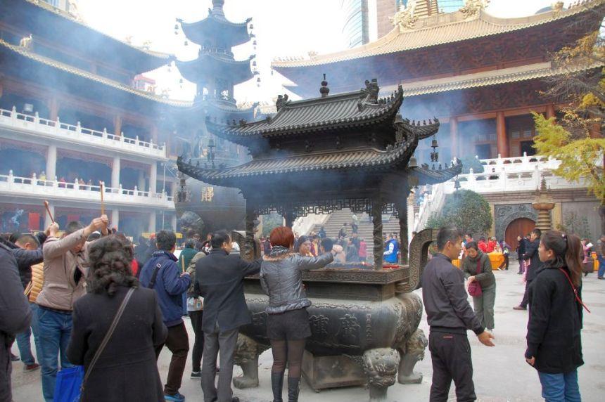 Jing'an Tempel Hof