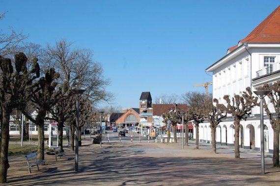 Travemünde Blick auf den Bahnhof