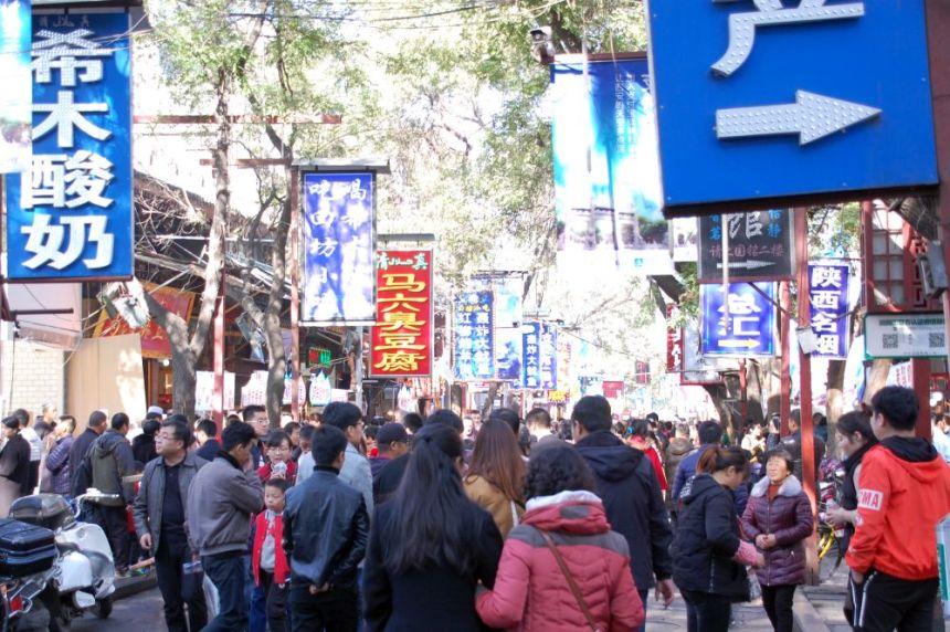 Hauptstrasse im Muslim-Viertel