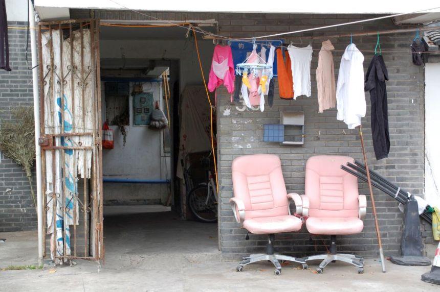 Nanjing Wäsche auf der Leine