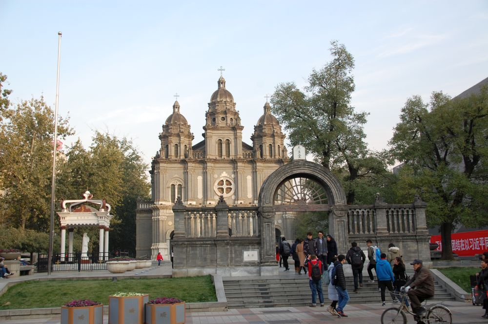 katholische Kirche an der Wangfujing Straße