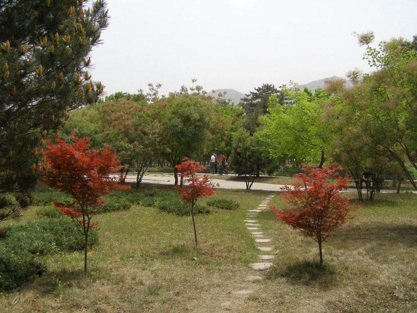 Park und Grabhügel