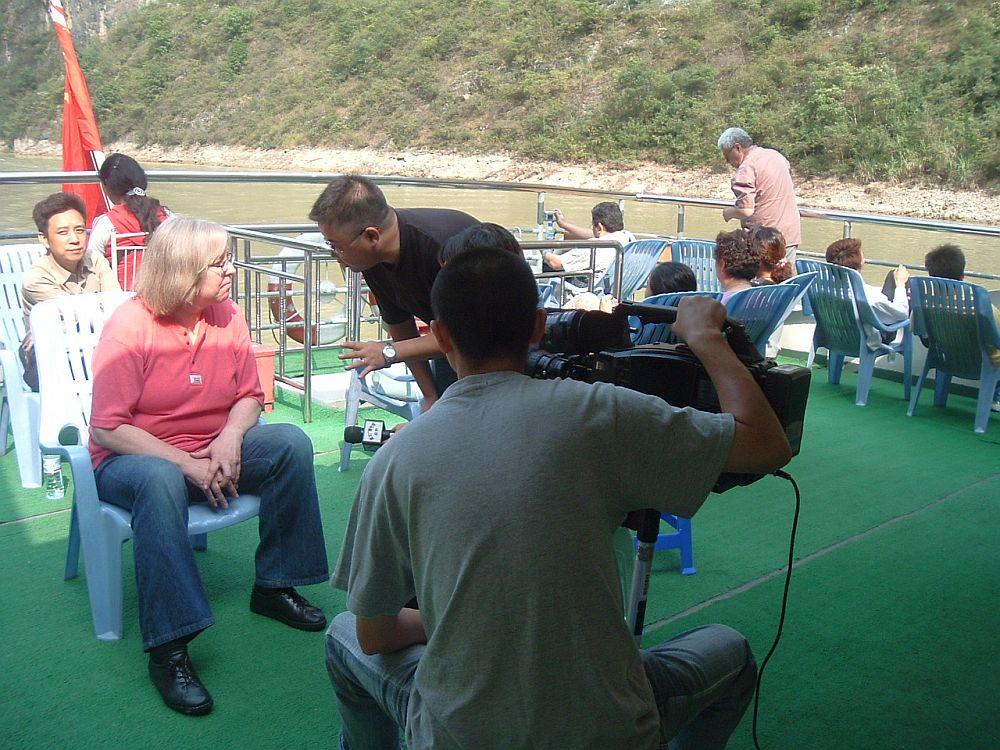Beim Interview