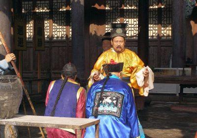 Konfuzianische Zeremonie Respekt