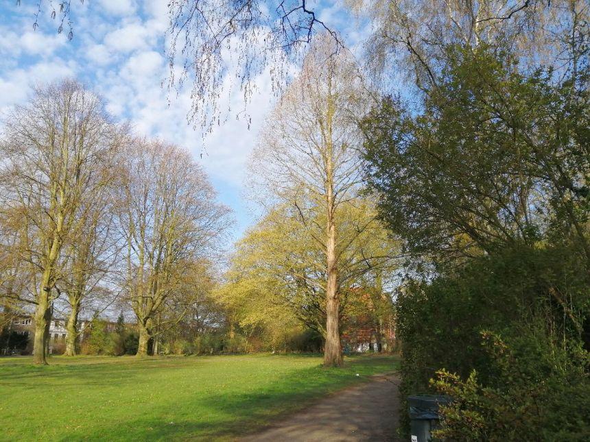 Blohms Park im April 2021