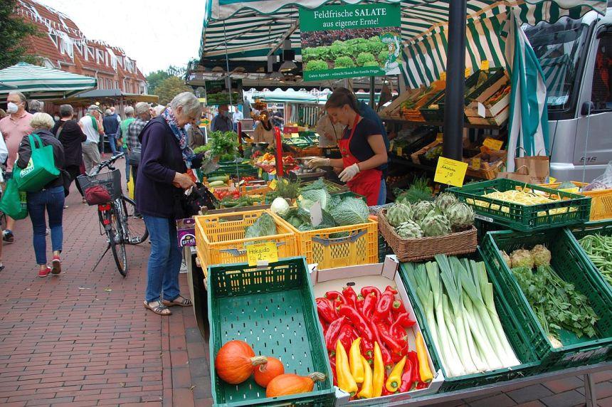 Markt in Buxtehude.