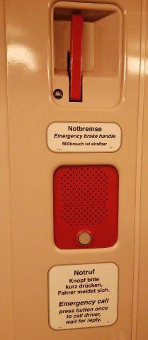 Notbremse in der U-Bahn