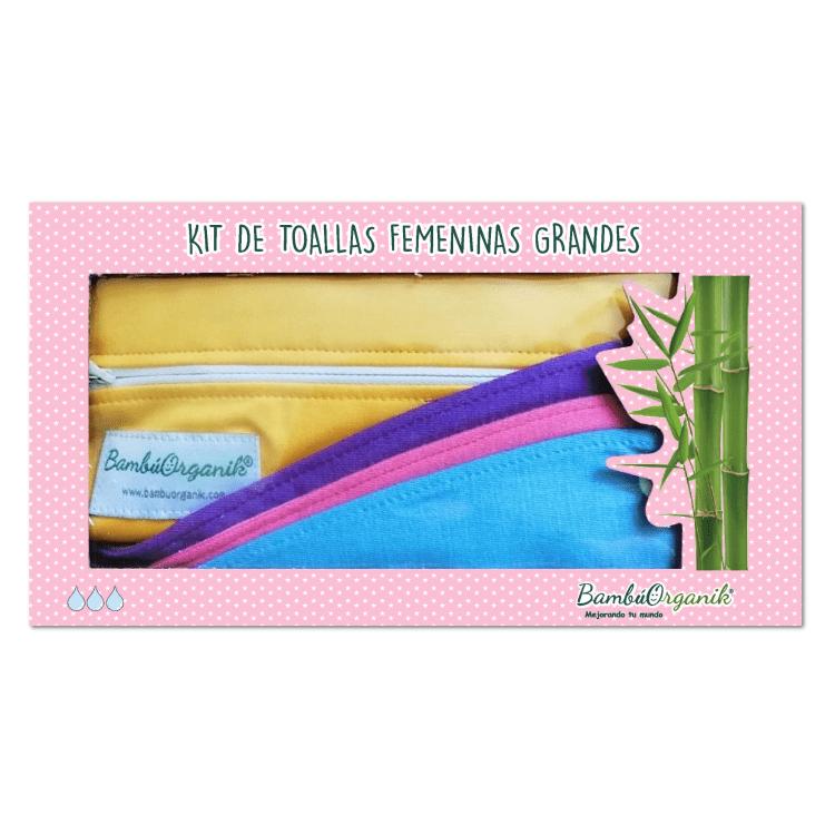 Kit de toallas femeninas grandes