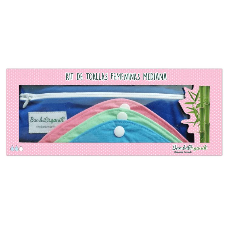 Kit de toallas femeninas medianas