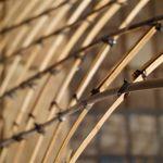 Bambusspalten verbunden