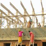 Schule aus Bambusrohren