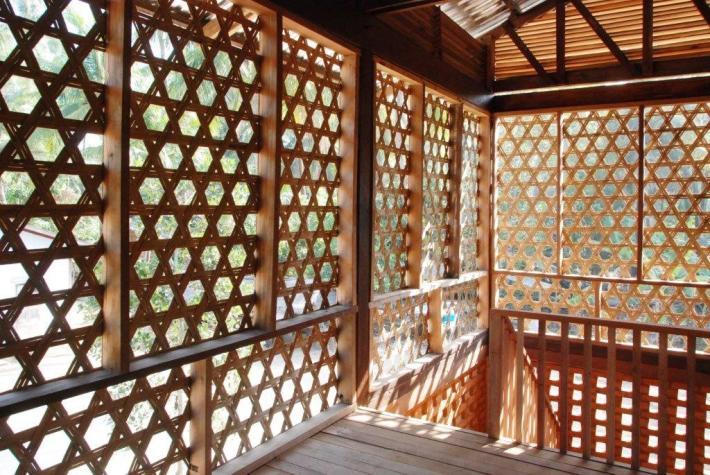 Sichtschutz aus Bambus