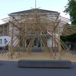 Skulptur, chinesicher Bambus, Malkasten Düsseldorf ©Kruno