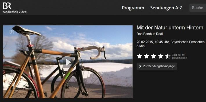 BR-Fernsehen: Bambus-Radl