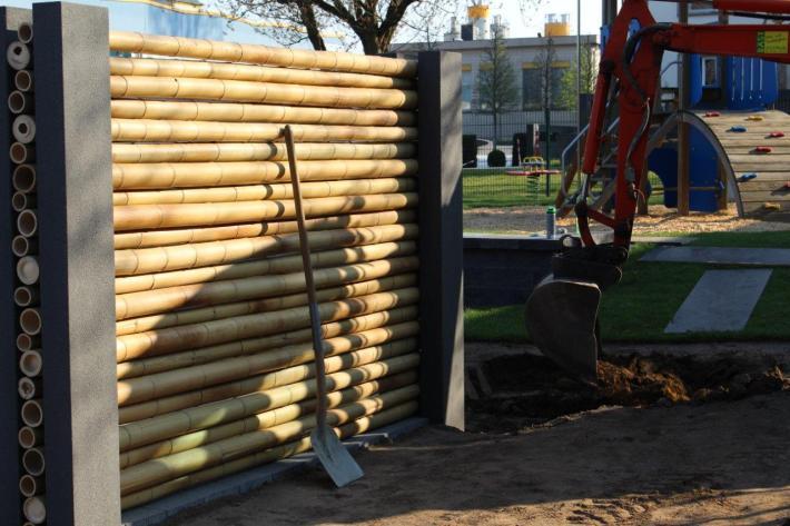 Bambus Sichtschutz Zaun horizontal CONBAM