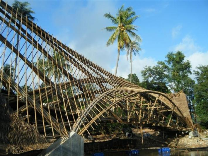 Bambusbrücke Thailand