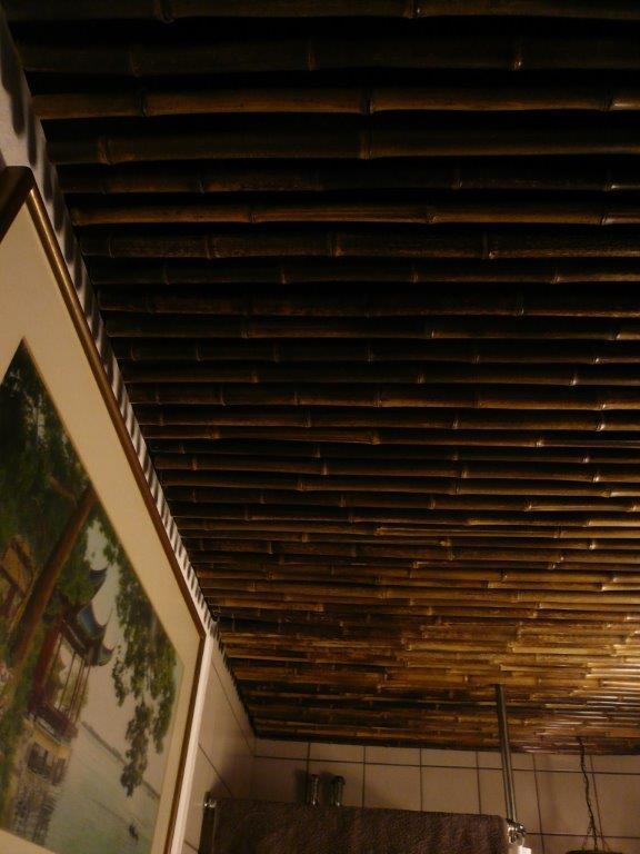 Bambusrohr Nigra schwarz-braun Deckenverkleidung CONBAM Bambushandel