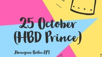 Abangani Bethu CPT – 25 October (HBD Prince)