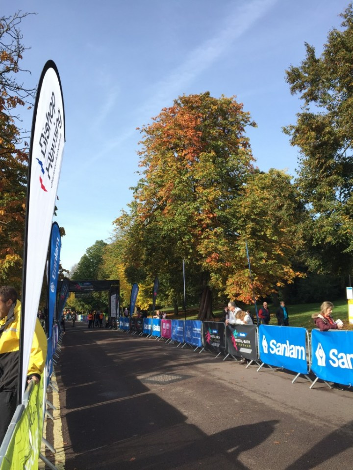 The finish line - Bristol to Bath Marathon