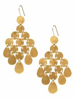 Coin chandelier earring
