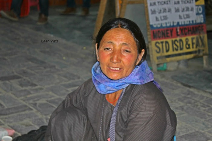 I found her selling apricots in Leh market