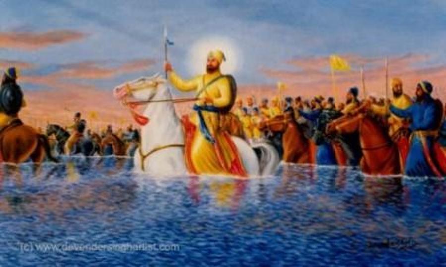 Guru Gobind Singh Ji leading the warriors