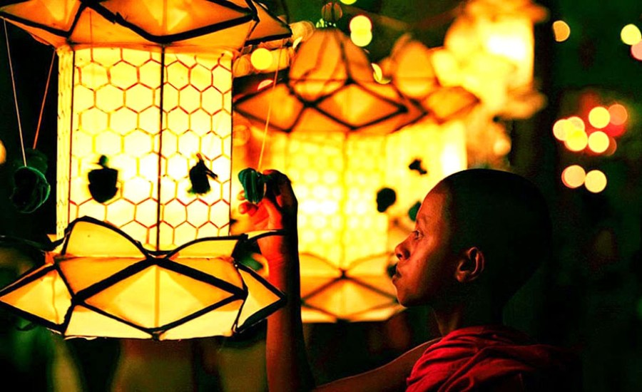 Bamboo Lanterns in Sri Lanka