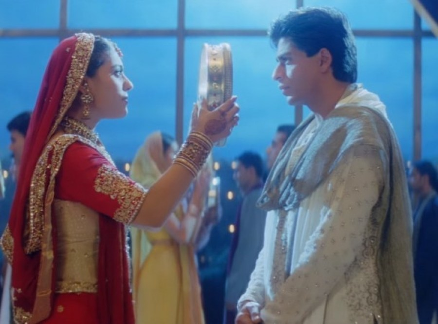 Traditional Lehengas can be worn during the 'Karva Chauth'!