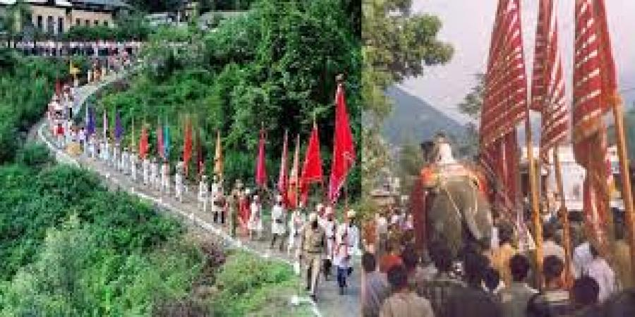 Procession in honor of Raghuvir Verman during Minjar