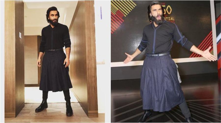 Ranveer Singh doesn't mind his skirts