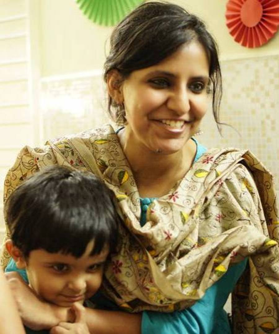 Simran enjoys being a full-time mom as well