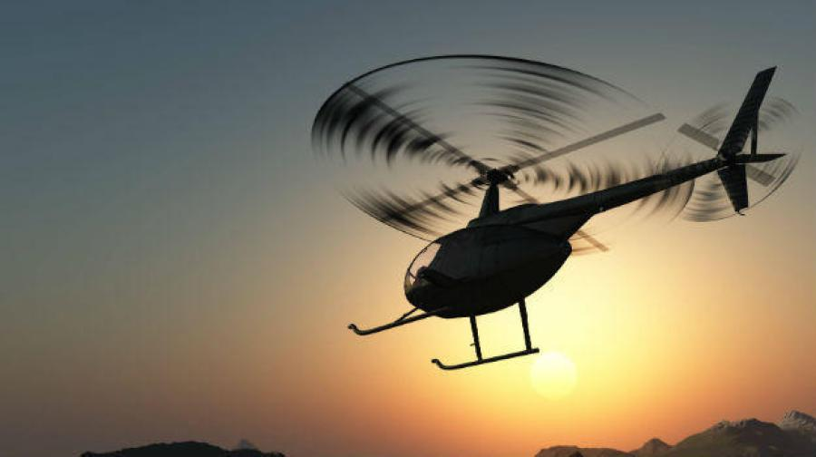 Helicopter ride in North-East India