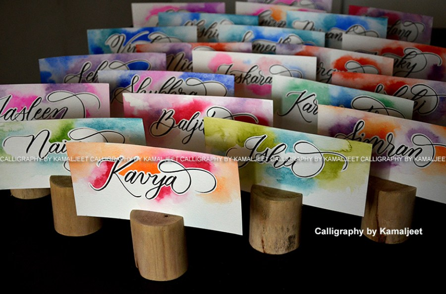 Kamaljeet Kaur At Her Artistic Best As A Calligraphy Artist And A Photographer