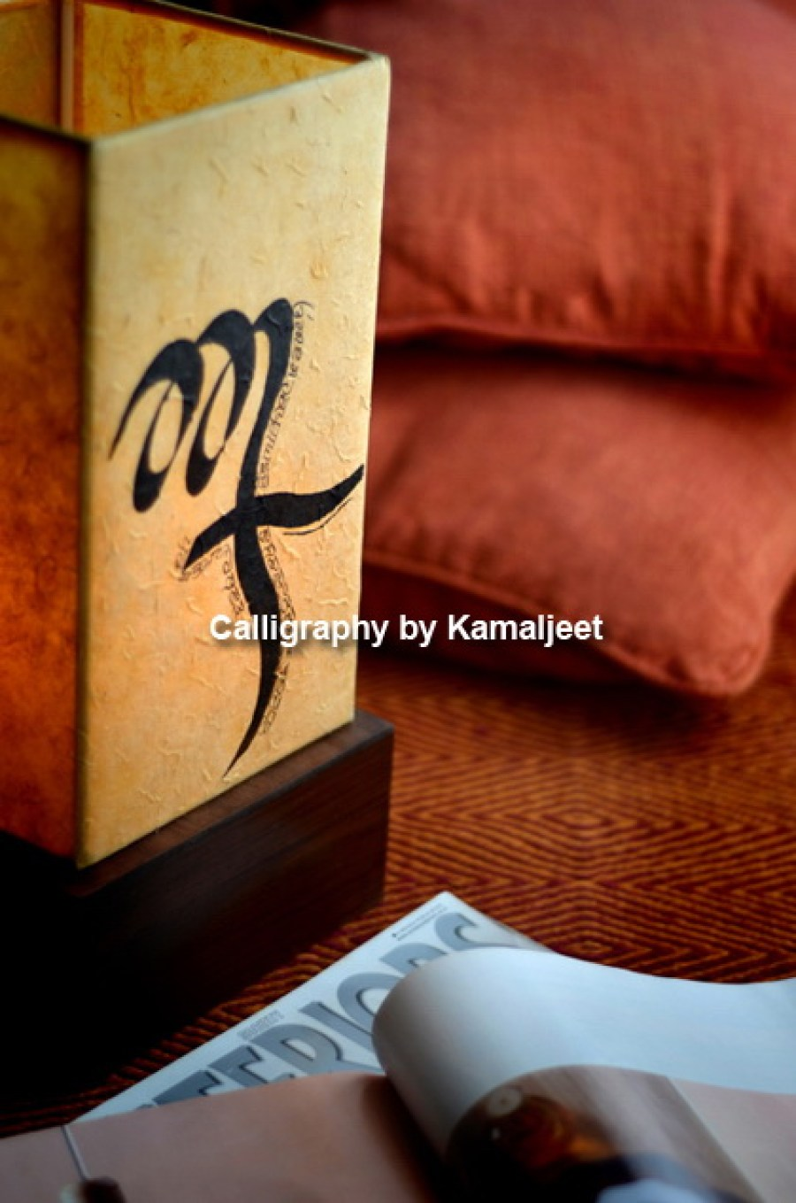 Calligraphy On Lamps Add An Artistic appeal To Homes And Office Spaces