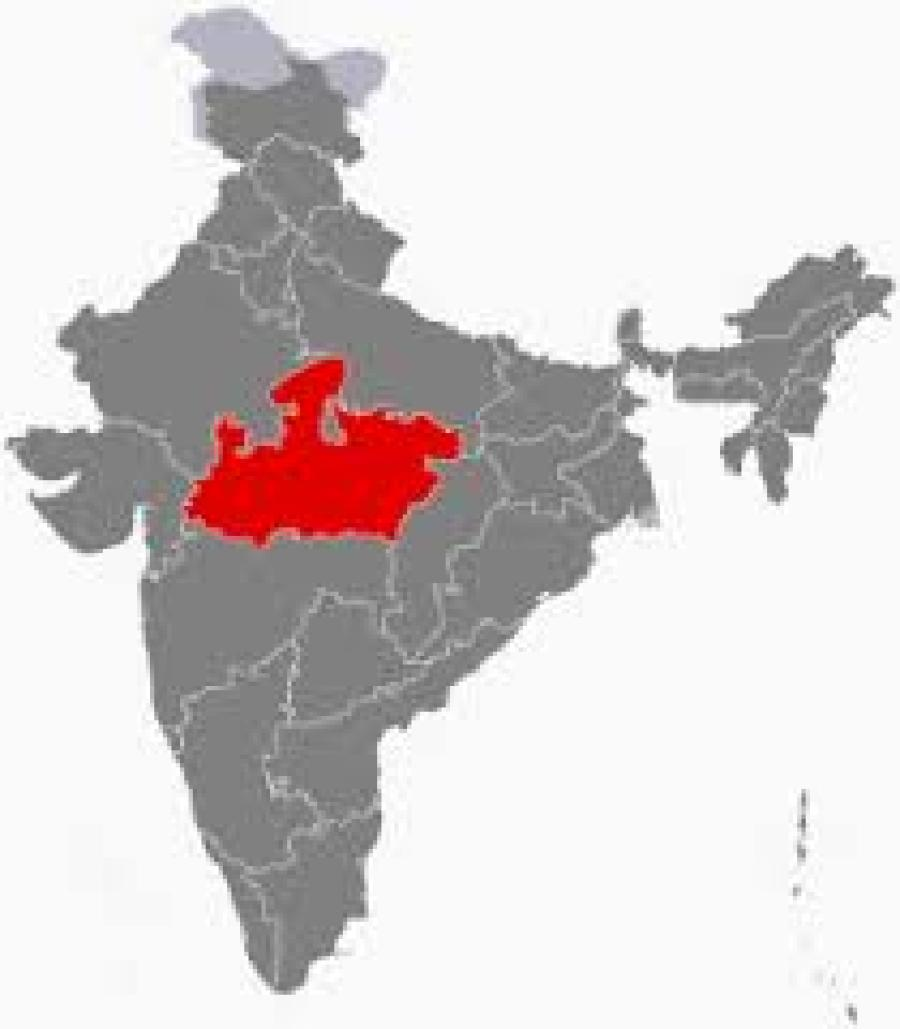 Madhya Pradesh on the map