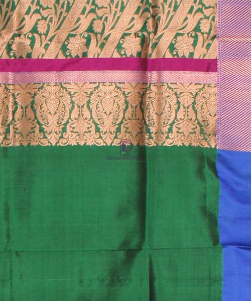 Banarasi Pure Katan Silk Handloom Saree in Black Green 7